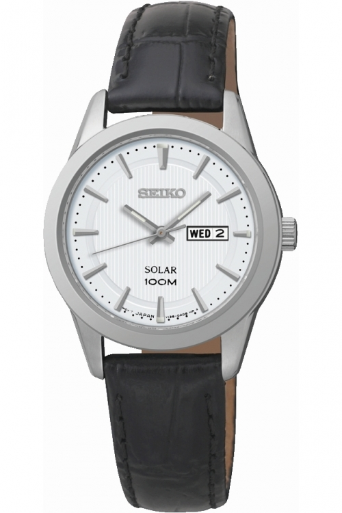 Image of  			   			  			   			  Ladies Seiko Dress Solar Powered Watch SUT159P2