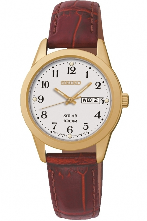 Image of  			   			  			   			  Ladies Seiko Dress Solar Powered Watch SUT196P1