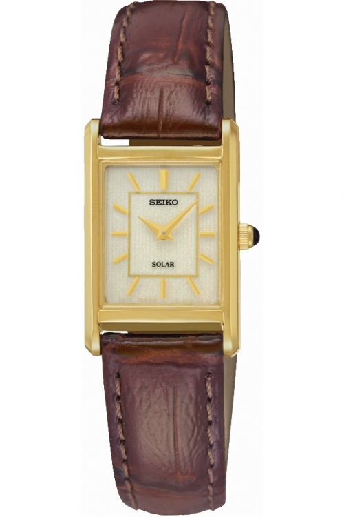Image of  			   			  			   			  Ladies Seiko Dress Solar Powered Watch SUP252P9