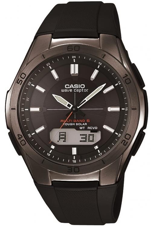 Image of            Mens Casio Waveceptor Alarm Chronograph Watch WVA-M640B-1AER