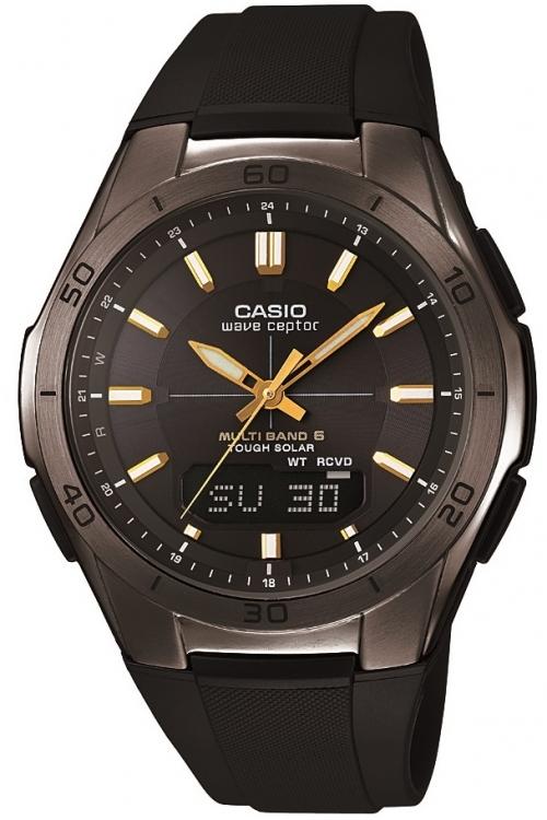 Image of            Mens Casio Waveceptor Alarm Chronograph Watch WVA-M640B-1A2ER