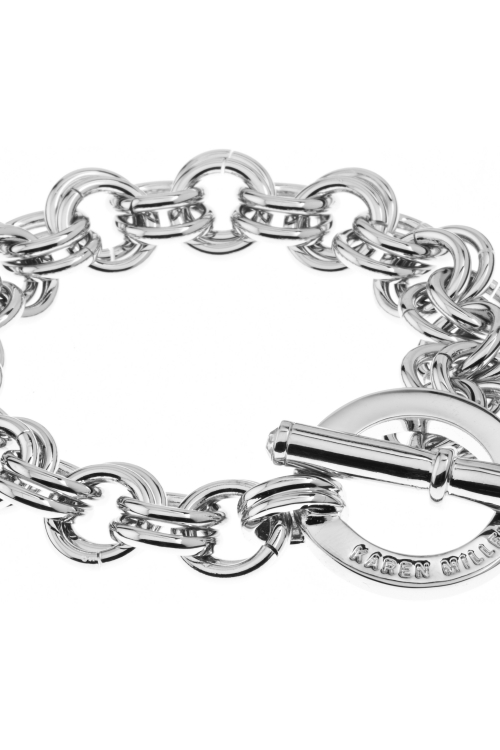 Ladies Karen Millen Encrusted Bar & Hoop Bracelet KMJ043-01-02