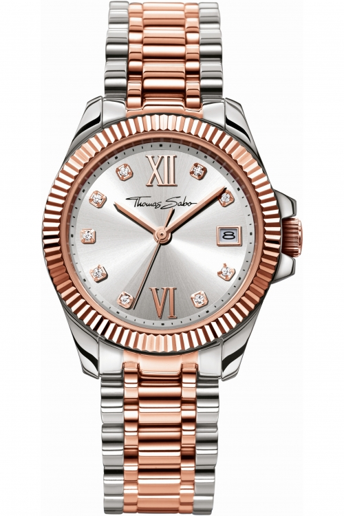 Image of  			   			  			   			  Ladies Thomas Sabo Divine Watch WA0219-272-201-33MM