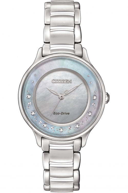 Click to view product details and reviews for Ladies Citizen Circle Of Time Diamond Eco Drive Watch Em0380 81n.