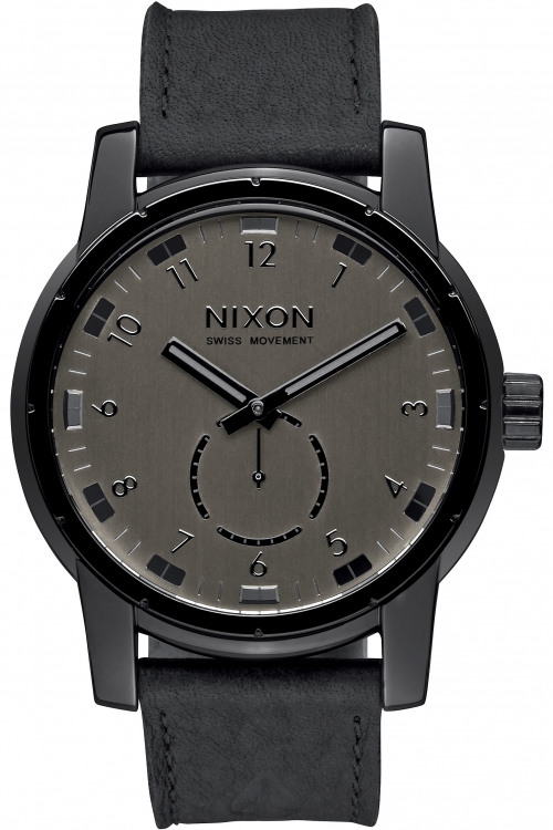 Image of  			   			  			   			  Mens Nixon The Patriot Leather Watch A938-001