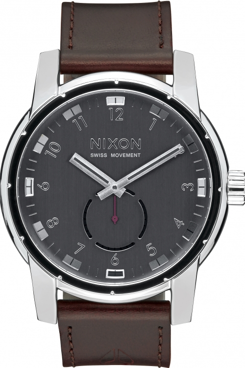 Image of Mens Nixon The Patriot Leather Watch A938-000