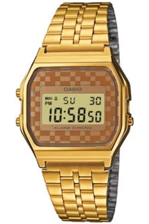 Image of            Unisex Casio Classic Alarm Chronograph Watch A159WGEA-9AEF