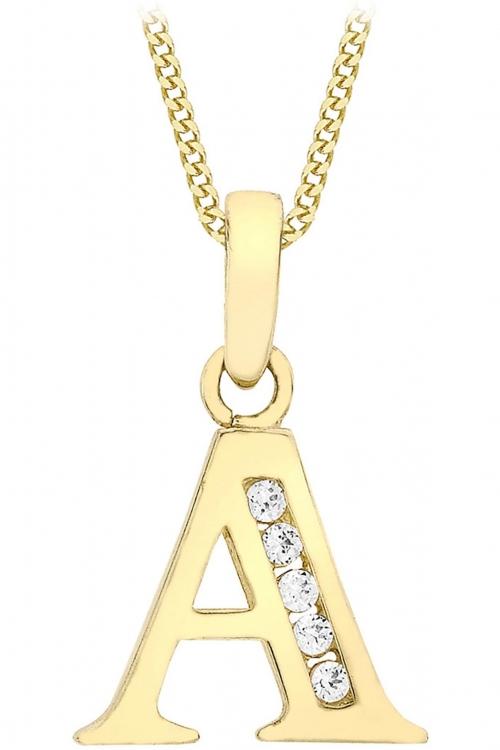 Jewellery Essentials Initial A Cubic Zirconia Pendant JEWEL AJ-14430000