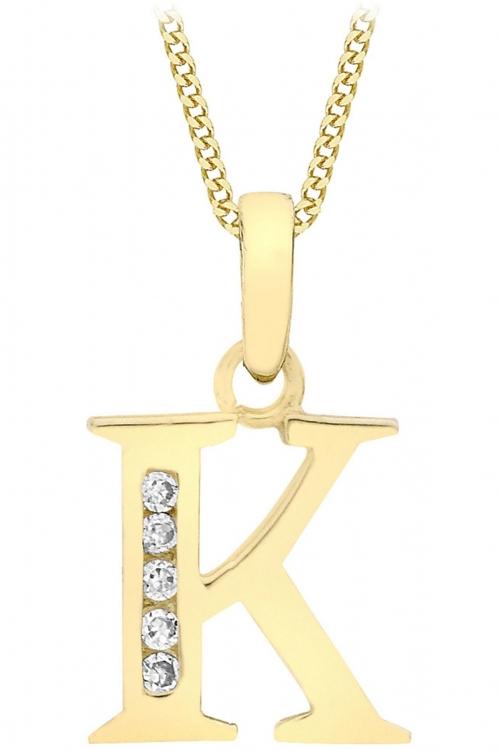 Jewellery Essentials Initial K Cubic Zirconia Pendant JEWEL AJ-14430003