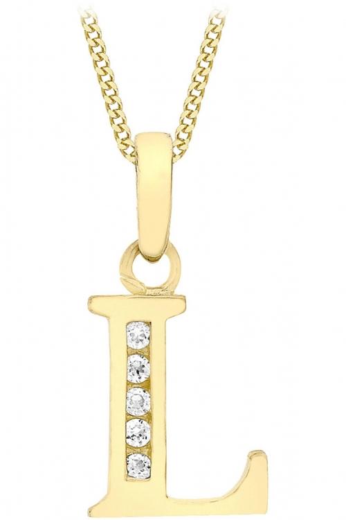 Jewellery Essentials Initial L Cubic Zirconia Pendant JEWEL AJ-14430004