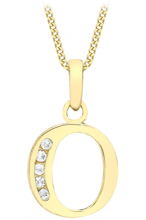 Jewellery Essentials Initial O Cubic Zirconia Pendant JEWEL AJ-14430014