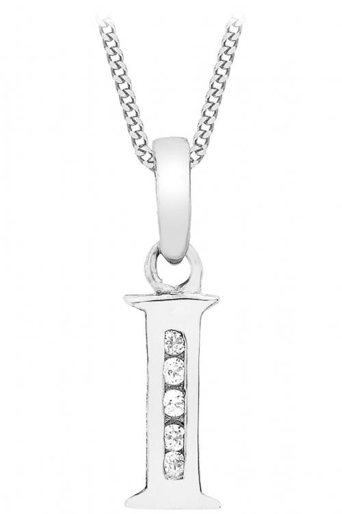 Jewellery Essentials Initial I Cubic Zirconia Pendant JEWEL AJ-14430034