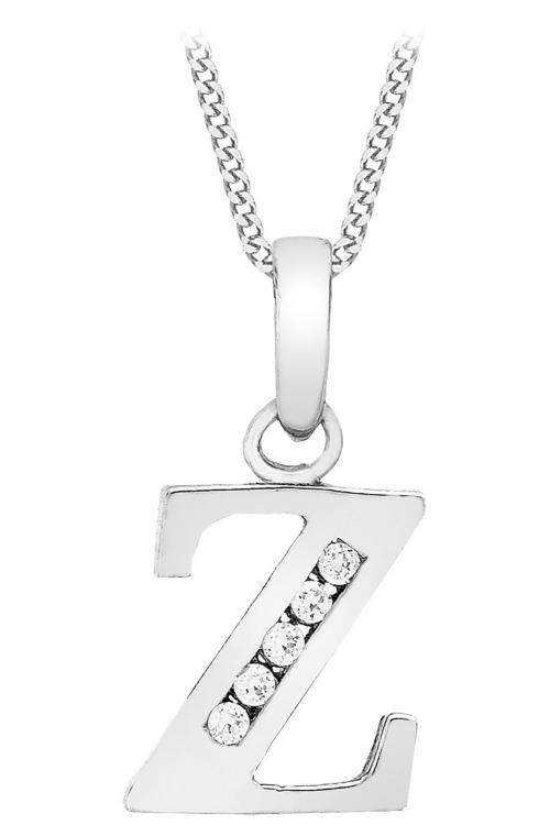 Jewellery Essentials Initial Z Cubic Zirconia Pendant JEWEL AJ-14430051