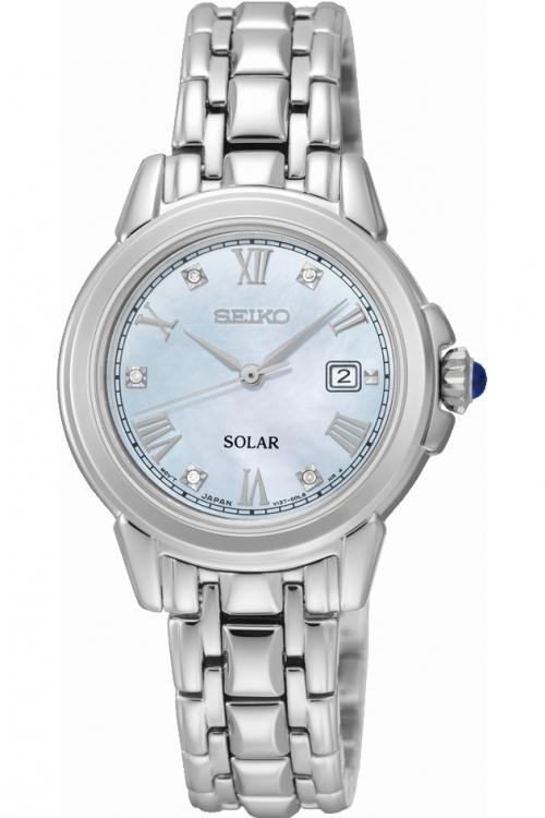 Image of            Ladies Seiko Diamond Solar Powered Watch SUT243P9