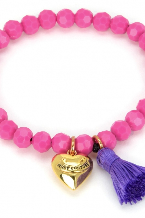 Juicy Couture Jewellery Heart & Tassel Beaded Bracelet JEWEL GJW35-673