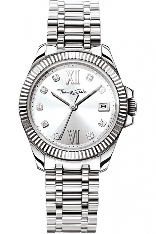 Image of  			   			  			   			  Ladies Thomas Sabo Divine Watch WA0252-201-201-33MM