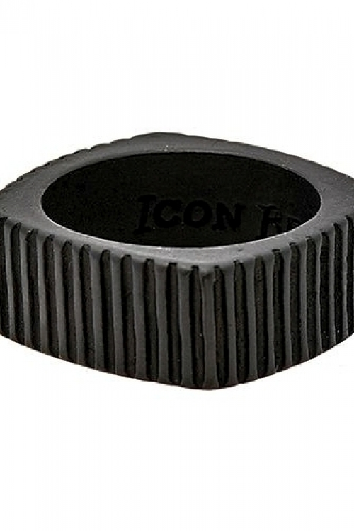 Icon Brand Jewellery Time Squared Ring JEWEL P1062-R-BLK-LGE