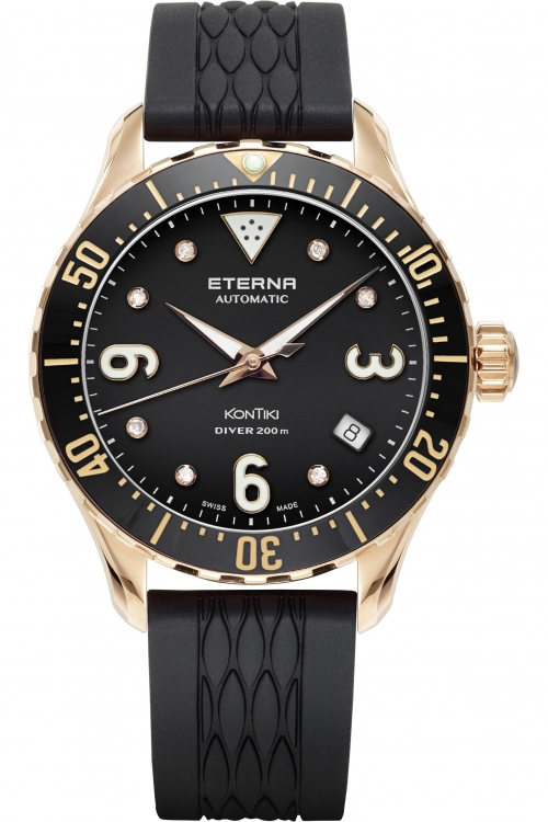 Image of  			   			  			   			  Mens Eterna KonTiki Diver Automatic Watch 1280.64.49.1381